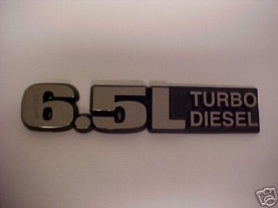 Chevy GM 65 Turbo Diesel Emblem OEM NOS