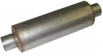 4 inch Aluminized Quiet Baffled High-Flow Diesel Muffler